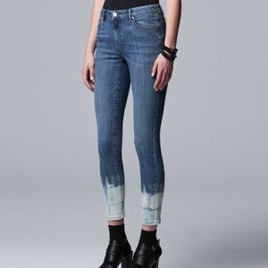 Tie Dye Dipped Slimming Stretch Jeans